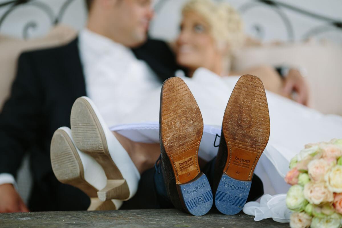 Schuhsohlen vom Brautpaar
