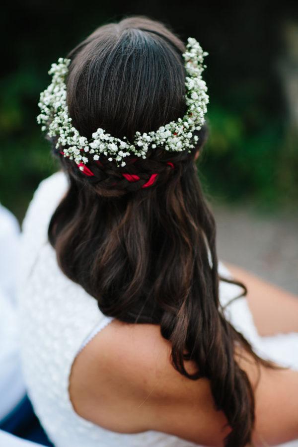 Hochzeitstag Shooting Blumenkranz